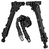 Gogoku Bipod & Sling Combo for Tactical Outdoor Hunting 7.5-9 Inches Bipod