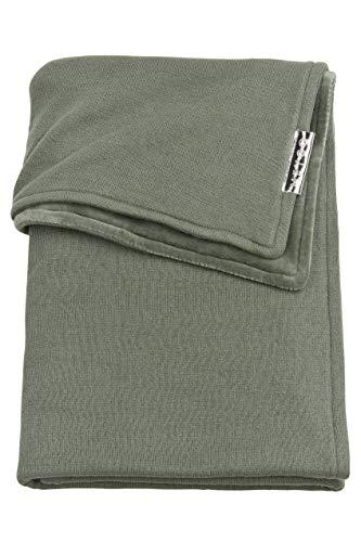 Meyco 2734032 - Copertina per bambini in velluto 100% cotone a maglia Basic Forest Green, 75 x 100 cm, colore: Verde