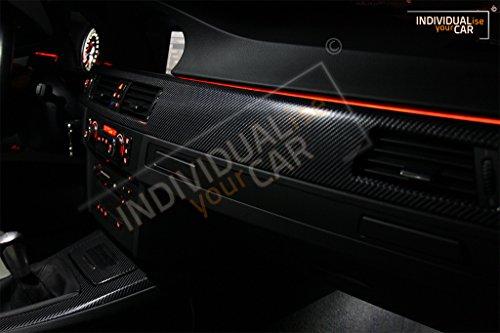 Armaturenbrett EL Ambiente Lichtleiste Set Ambientebeleuchtung für 3er E90 E91 E92 E93 (Amber)