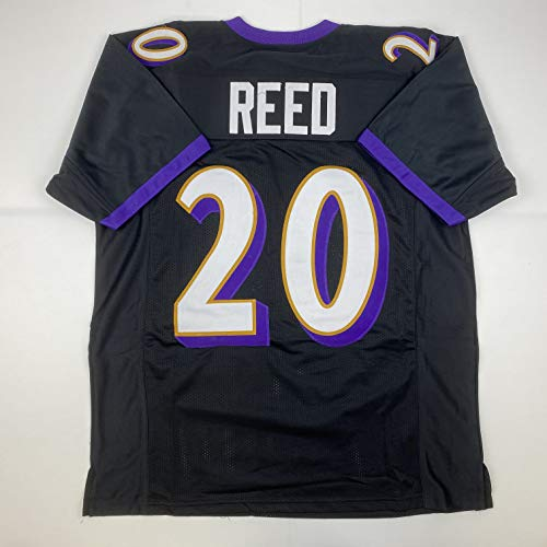 Unsigned Ed Reed Baltimore Black Custom Stitched Football Jersey Size Men's XL New No Brands/Logos