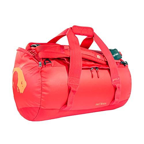 Tatonka Barrel M Reisetasche - 65 Liter - wasserfeste Tasche aus LKW-Plane mit Rucksackfunktion und großer Reißverschluss-Öffnung - Rucksacktasche - unisex - rot