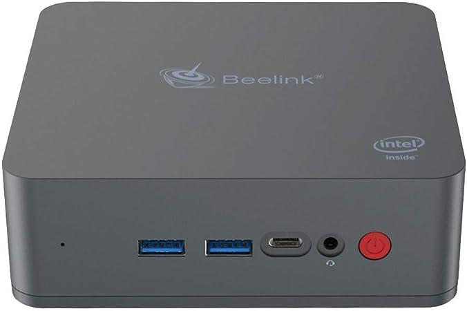 Beelink U55 Mini PC Ordenador de Sobremesa con Windows 10, CPU Intel Core i3-5005U, 8GB RAM + 256GB SSD, 2.4 + 5.8GHz WiFi, Intel HD Graphics 5500, 4K, 1000Mbps, BT 4.0