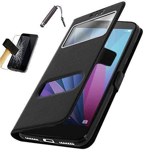 Etui Housse Coque Noire Asus Zenfone 4 MAX ZC520KL + Film verre trempe + Stylet [Dimensions PRECISES de votre appareil : 150.5 x 73.3 x 8.8 mm, écran 5.2'']***PLUSIEURS COULEURS DISPONIBLES***