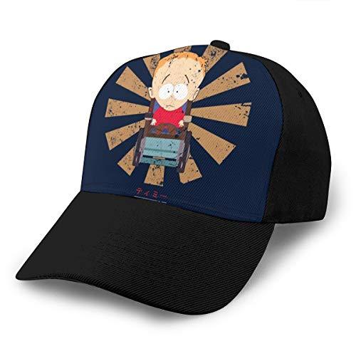 HONGYANW Gorra de béisbol Timmy Retro Japonés South Park Dad Sombrero Ajustable Transpirable para Hombres Mujeres Negro