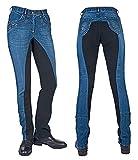 HKM Western Classic - Pantaloni da Donna, Colore: Blu Scuro/Blu Scuro