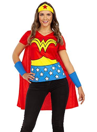 Funidelia | Kit Wonder Woman Oficial para Mujer Talla S ▶ Mujer Maravilla, Superhéroes, DC Comics, Liga de la Justicia - Color: Multicolor - Licencia: 100% Oficial