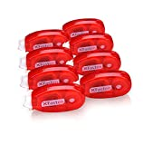 XFasten Double Sided Adhesive Scrapbook Runner Tape Roller, 0.3-inch by 360-Inch, 8-Pack, Permanent Adhesive Dots Roller Applicator, Acid-Free and Archival Safe Scrapbooking Tape