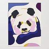 Beaxqb Kit de Pintura por Números Panda Animal Pintura al óleo Kit con Pinceles y Pinturas, para decoración del hogar 40x50cmSin Marco