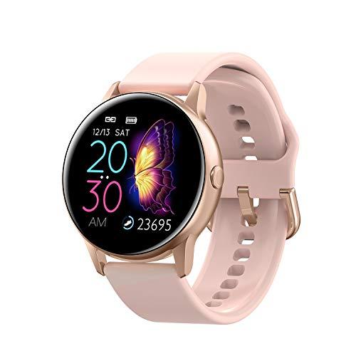 Smartwatch, fitnessarmband, horloge, waterdicht, fitnesstracker, sporthorloge met stappenteller, polshorloge, stopwatch voor dames en heren, smartwatch voor iOS en Android