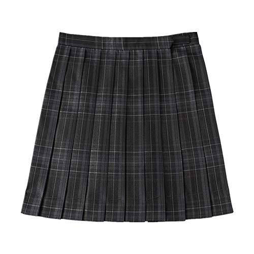N\P Vestido de cintura alta a cuadros uniforme de la falda de la falda falda falda plisada falda