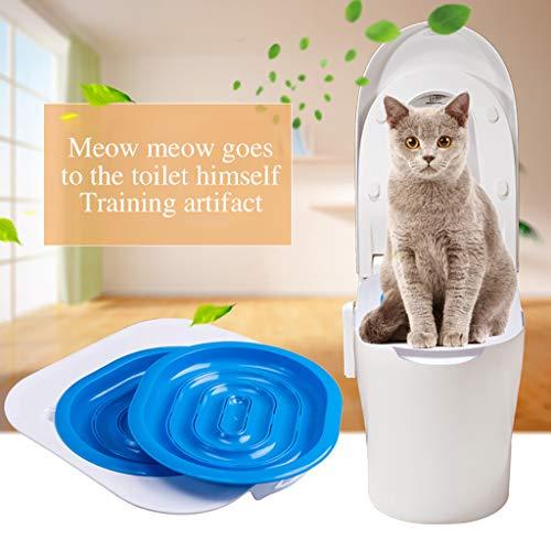 Younoo Haustiere Katze Toilette Training Kit Kunststoff Sandbox Matte Katze Trainer Katze Toilette Cleanin