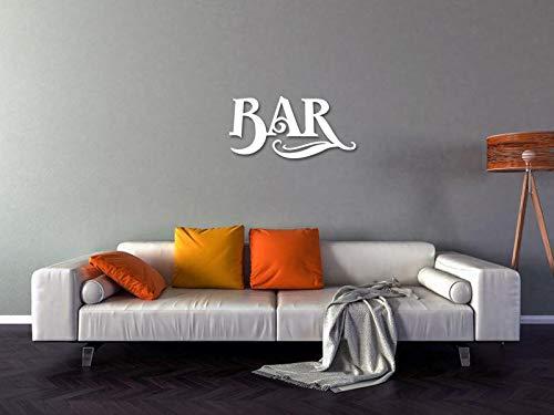 Cartel de barra de metal – Bar Metal Wall Art Metal Wall Word Escultura Metal Roots Decoración de pared Decoración colgante para sala de estar, dormitorio, baño interior y exterior corte láser