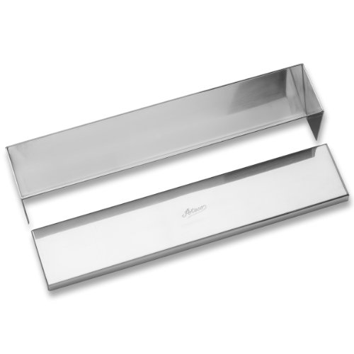 Ateco Stainless Steel Terrine Mold with Cover, Cone Shaped Bottom, 11.75 by 2.25-Inches