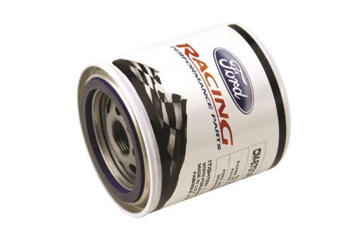 Oil Filter, High Performance, Canister, Screw-On, 22 mm x 1.50 Thread, Steel, White, Ford, Each