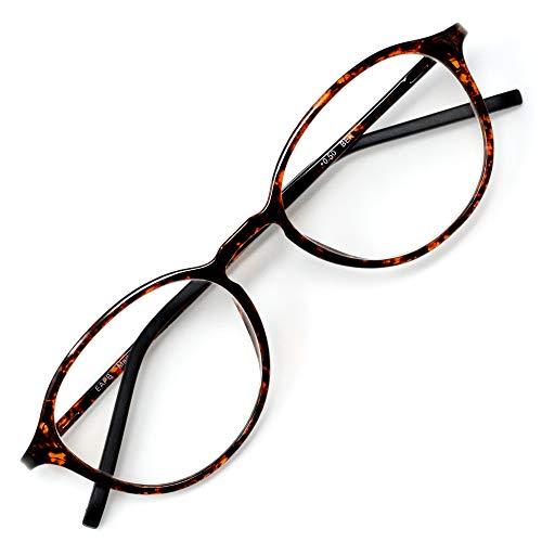 アイウェアエア 老眼鏡 おしゃれ レディース メンズ ブルーライトカット 35% +0.5〜+3.5 4色 ボストン ベッコウ +1.00