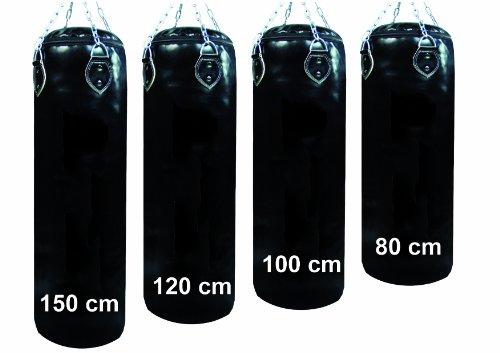 Lisaro Profi Boxsack/Sandsack, inkl. Vierpunkt-Kette, Size 100X35cm, Ca.30 kg gefüllt