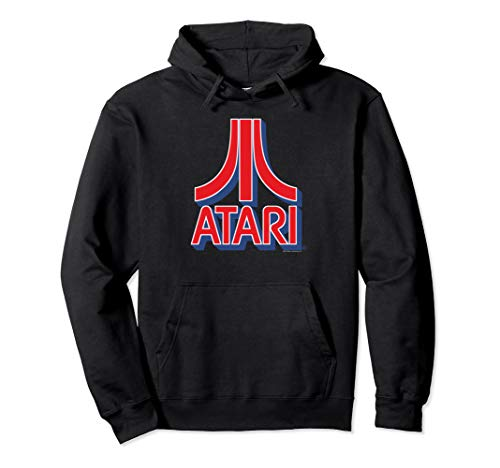 Unisex Official Atari 3D Logo Hoodie in 5 Colors, S to 2XL