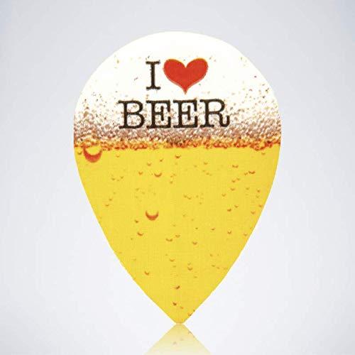 myDartpfeil Gelbe Pear Dart Flights | Bier aus Kunststoff | 3er Flight Set | Dartpfeil Flyer
