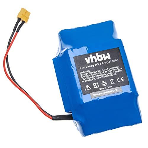vhbw Batterie 36V pour Divers Hoverboards, Balance-Boards, Segways par Exemple de Gyropode, Viron, Razor, Caterpillar (5200mAh, Li-ION)