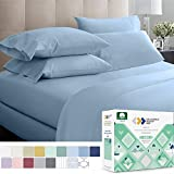 California Design Den 600 Thread Count Best Bed Sheets 100% Cotton Sheets Set - Extra Long-Staple Cotton Sheet for Bed 4 Piece Set with Deep Pocket (Ticking Stripe Grey, Queen Sheet Set - 600 TC)