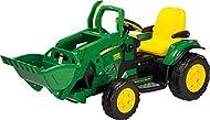 Peg Perego IGOR0068 John Deere Loader Electric Tractor, Green-Yellow