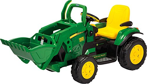 Peg Perego USA- John Deere Loader Tractor con Pala, Color Verde/Amarillo (IGOR0068)