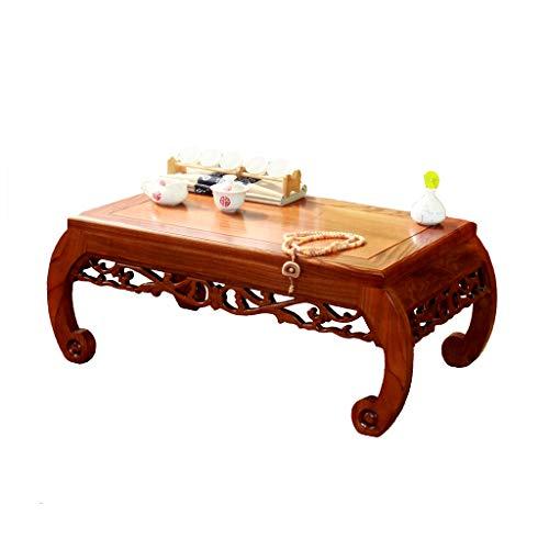 Tables Basse Baie Vitrée Petit Bureau Basse en Bois Massif Balcon Basse Sculptée Tatami Japonais Basse Salon Brun Basse Moderne Basses