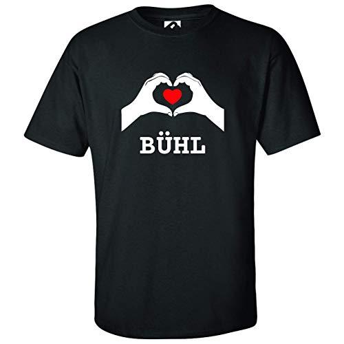 JOllify BÜHL Kinder Junge Mädchen T-Shirt – Design: Hände Herz - Größe: 128-7-8 Jahre