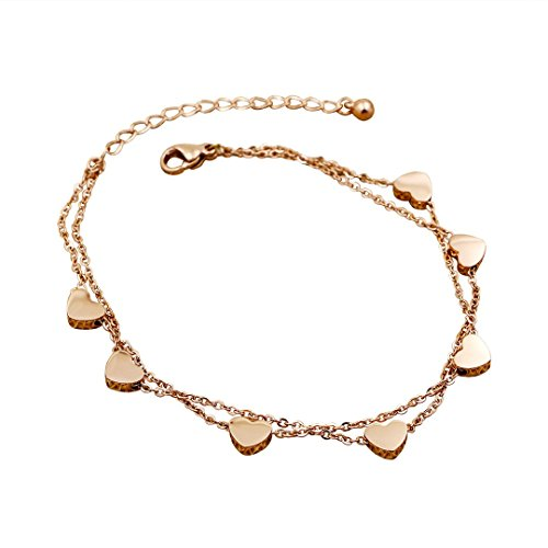 LOVE Bracelet/Chain Armband Herz/Heart in Gold, Silber, Rosé Gold Faye (Rosé Gold)
