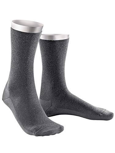 Weissbach Socken »Elite« aus reiner Schurwolle mittelgrau