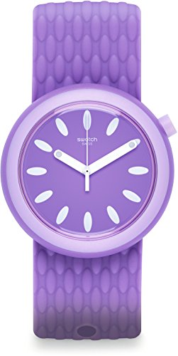 Swatch Damen Digital Quarz Uhr mit Silikon Armband PNV101