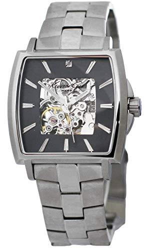 Kenneth Cole New York KC3899 Men's Automatic Skeleton Watch Steel Bracelet