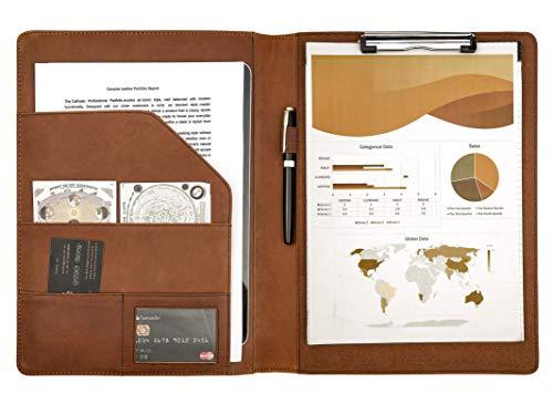 Freier Brief Graviert Klemmbrett A4 Dokumentenmappe Leder Schreibmappe Ordner Mappe Konferenzmappe Braun
