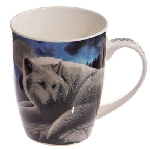 Puckator mulp34 Tasse Design The Guardian of The North von Lisa Parker Porzellan – Blau/Schwarz/Weiß