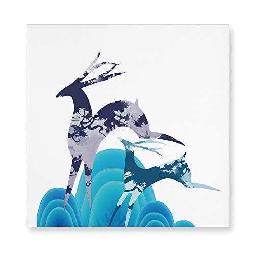 NoNo 3D-Druck Rahmenlose Gemälde Illustration Fahrzeug Fiktionale Figur Leinwanddruck HD-Druck Benutzerdefinierte Bilder Schönes Aussehen für Wohnzimmer, Küche und Schlafzimmer