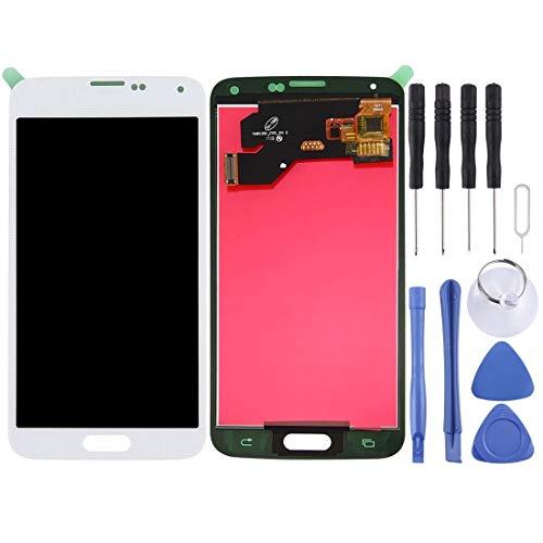 LICHONGGUI Pantalla LCD (TFT) Panel táctil for Compatible con Samsung Galaxy S5 / G900, G900F, G900I, G900M, G900A, G900T, G900W8, G900K, G900L, G900S (Color : Blanco)