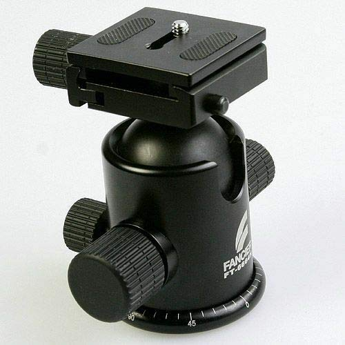 "Tripod Grip Action Ball Head, Compatible with Gitzo Manfroto 6664H 3/8"" Thread -  Rianiq07, 6018004344352"
