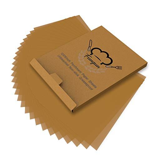 200pcs Parchment Paper Baking Sheets, Fungun 12x16' Non-Stick Unbleached Precut Parchment Paper for Cook, Grill, Steam, Pans, Air Fryers, Hamburger Patty Paper
