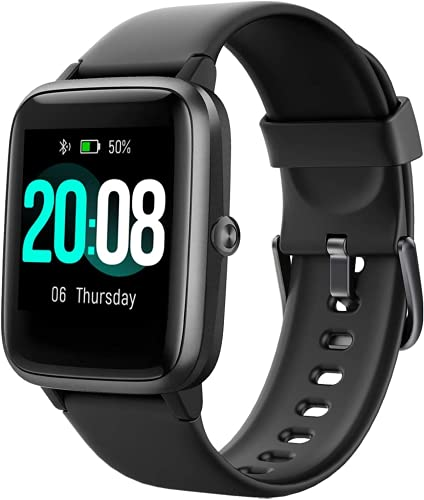 Lintelek,Smartwatch Orologio Fitness Tracker Uomo Donna Smart Watch Cardiofrequenzimetro da Polso Contapassi Smartband Sportivo Activity Tracker per Android iOS