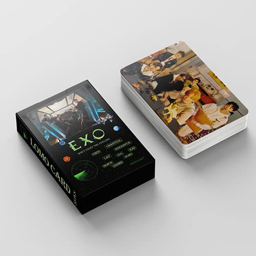 EXO Lomo Cards 55 pcs EXO Don't fight the feeling postales EXO kpop album Card...