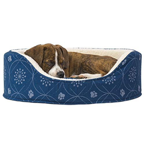 Furhaven Round Oval Orthopedic Dog Bed
