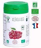 Acérola bio | 60 gélules | Complément alimentaire | Energie Vitamine C | Bioptimal nutrition naturelle| Fabriqué en France | Certifié par Ecocert | Satisfait ou Remboursé 30 jours