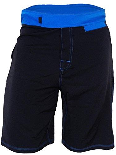 Epic MMA Gear WOD Shorts for Men - Agility 1.0 (Black/Blue, 28)