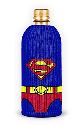 FREAKER Fits Every Bottle Can Beverage Insulator, Stops Bottle Sweat, DC Superman Suit Superhero...