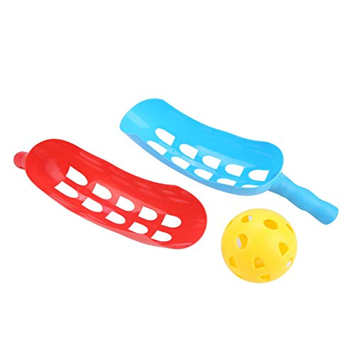 DAUERHAFT Cómodo Juego de Captura de Pelota Suave Antideslizante Raquetas Juego para niños Juguete Juegos saludables para Padres e Hijos