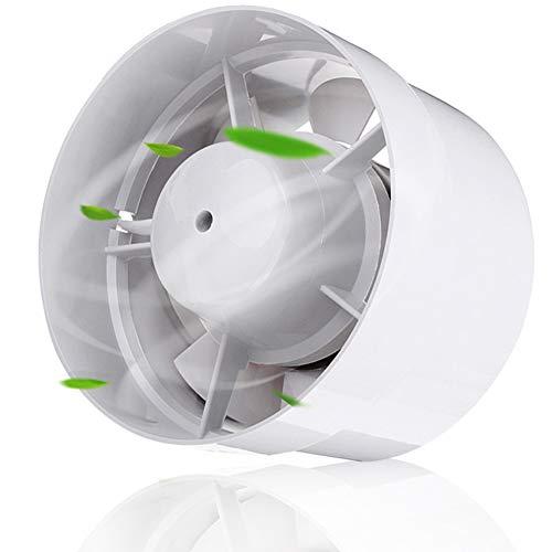 150mm Ventilador Extractor de Ventilación de Plástico Alta Calidad para Grow Tent Baño Sótano Garaje, Inline Duct Fan Extractor de Aire Refrigeración con Válvula Antirretorno, 18W