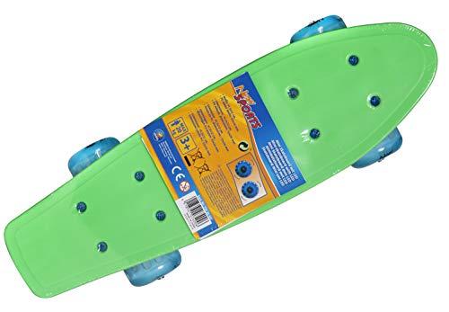 VEDES Großhandel GmbH - Ware Sport Mini Skateboard mit LED, 41,5x12cm, bunt, 20