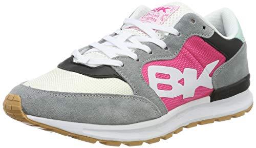 British Knights Damen Impact Sneaker, Grau Fuchsia Mintgrün Schwarz, 39 EU