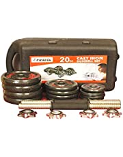 Fitness Cast Iron Dumbbell Set by Fitness World - 20kg