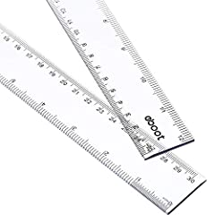 2 Pack plastic clear ruler: the size of this ruler is 30.9 x 3.2 cm (L x W), 0.25 cm in thickness; 2 Pack plastic ruler, measures range is 12 inches/ 30 cm 2 Side measuring ruler: dual side measuring ruler, centimeter scale is on one edge of the rule...